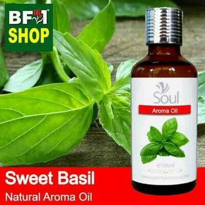 Natural Aroma Oil (AO) - Basil - Sweet Basil ( Giant Basil ) Aroma Oil  - 50ml