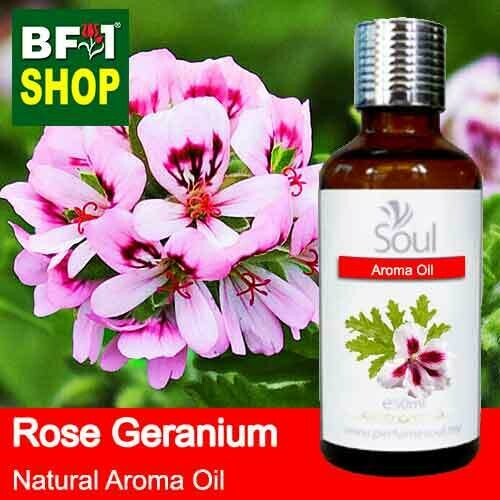 Natural Aroma Oil (AO) - Geranium - Rose Geranium Aroma Oil  - 50ml