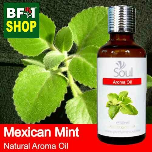 Natural Aroma Oil (AO) - Mint - Mexican Mint ( Plectranthus socotranum ) Aroma Oil  - 50ml