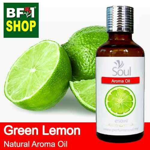 Natural Aroma Oil (AO) - Lemon - Green Lemon Aroma Oil  - 50ml