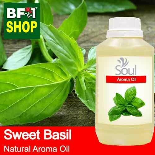Natural Aroma Oil (AO) - Basil - Sweet Basil ( Giant Basil ) Aroma Oil  - 500ml