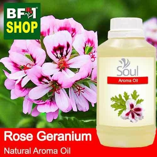 Natural Aroma Oil (AO) - Geranium - Rose Geranium Aroma Oil  - 500ml