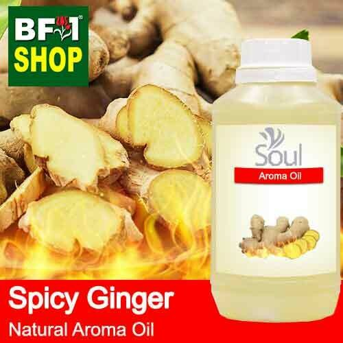 Natural Aroma Oil (AO) - Ginger - Spicy Ginger Aroma Oil  - 500ml