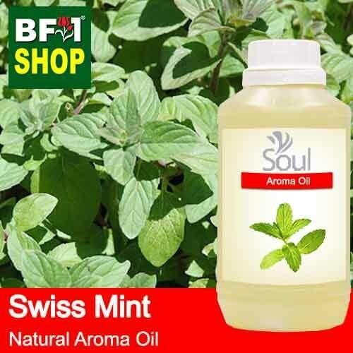 Natural Aroma Oil (AO) - Mint - Swiss Mint ( Mentha Spicata ) Aroma Oil  - 500ml