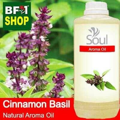 Natural Aroma Oil (AO) - Basil - Cinnamon Basil ( Thai Basil ) Aroma Oil  - 1L