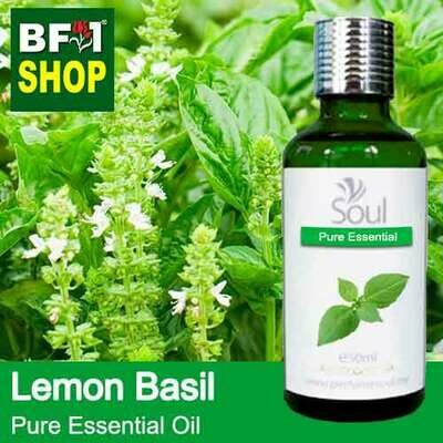 Pure Essential Oil (EO) - Basil - Lemon Basil ( Citriodorum Basil ) Essential Oil - 50ml