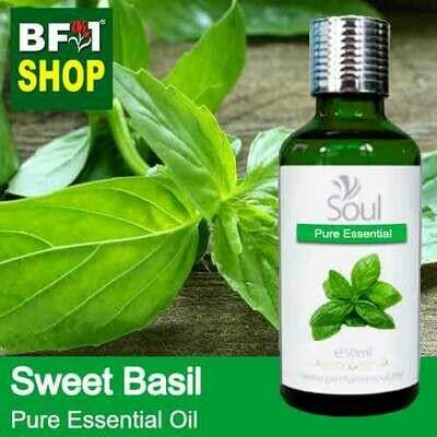 Pure Essential Oil (EO) - Basil - Sweet Basil ( Giant Basil ) Essential Oil - 50ml