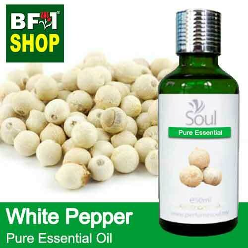 Pure Essential Oil (EO) - Pepper - White Pepper Essential Oil - 50ml