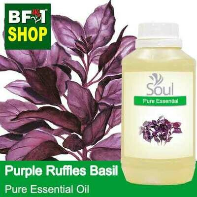 Pure Essential Oil (EO) - Basil - Purple Ruffles Basil Essential Oil - 500ml