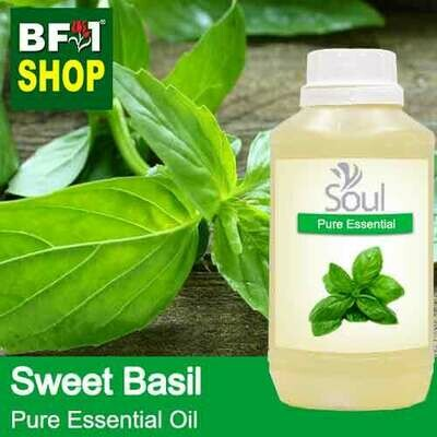 Pure Essential Oil (EO) - Basil - Sweet Basil ( Giant Basil ) Essential Oil - 500ml