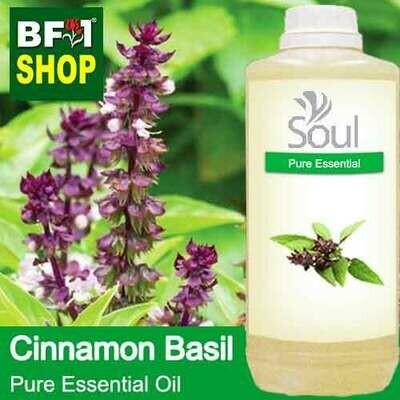 Pure Essential Oil (EO) - Basil - Cinnamon Basil ( Thai Basil ) Essential Oil - 1L