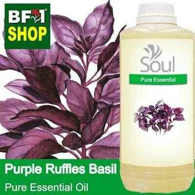 Pure Essential Oil (EO) - Basil - Purple Ruffles Basil Essential Oil - 1L