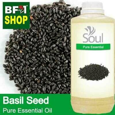 Pure Essential Oil (EO) - Basil Seed ( Ocimum Basilcum ) Essential Oil - 1L