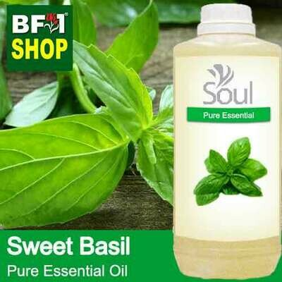 Pure Essential Oil (EO) - Basil - Sweet Basil ( Giant Basil ) Essential Oil - 1L