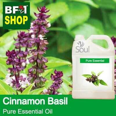 Pure Essential Oil (EO) -  Basil - Cinnamon Basil ( Thai Basil ) Essential Oil - 5L
