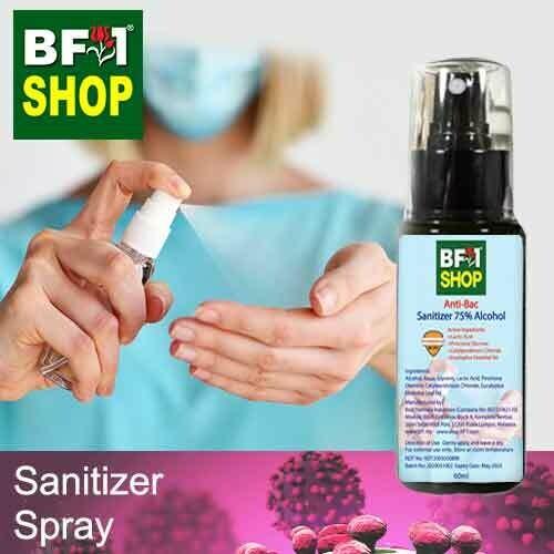 Antibacterial Alcohol Hand Sanitizer Spray ( 75% Alcohol Liquid Form Rinse Free ) - 65ml