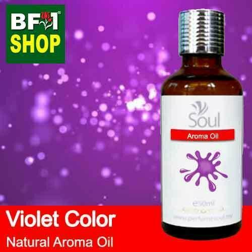 Natural Aroma Oil (AO) - Violet Color Aura Aroma Oil - 50ml