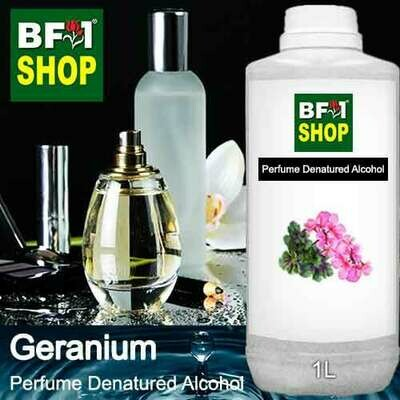 Perfume Alcohol - Denatured Alcohol 75% with Geranium - 1L