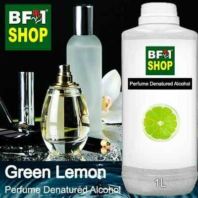 Perfume Alcohol - Denatured Alcohol 75% with Lemon - Green Lemon - 1L