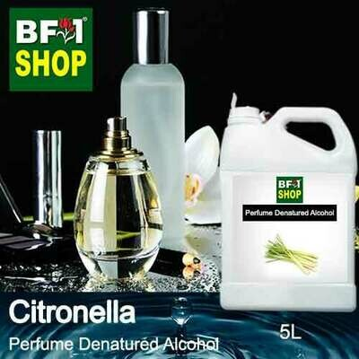 Perfume Alcohol - Denatured Alcohol 75% with Citronella - 5L