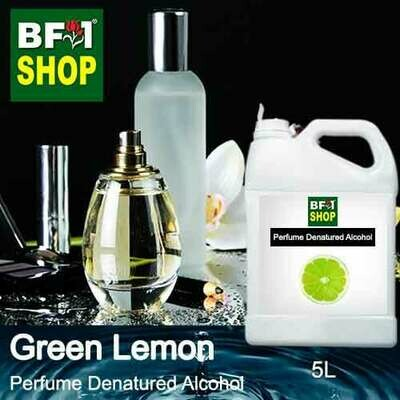 Perfume Alcohol - Denatured Alcohol 75% with Lemon - Green Lemon - 5L