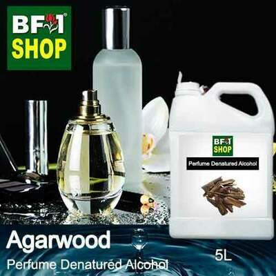 Perfume Alcohol - Denatured Alcohol 75% with Agarwood - 5L