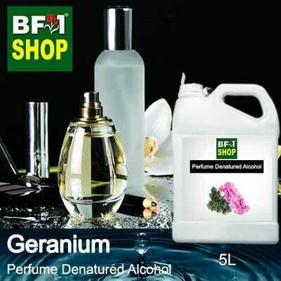 Perfume Alcohol - Denatured Alcohol 75% with Geranium - 5L