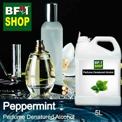 Perfume Alcohol - Denatured Alcohol 75% with mint - Peppermint - 5L