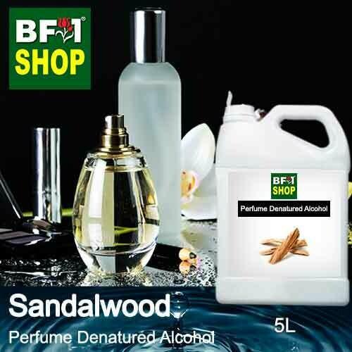 Perfume Alcohol - Denatured Alcohol 75% with Sandalwood - 5L