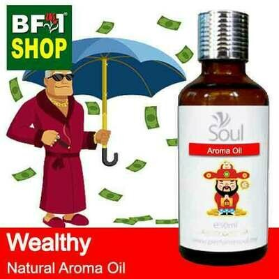 Natural Aroma Oil (AO) - Wealthy Aura Aroma Oil - 50ml