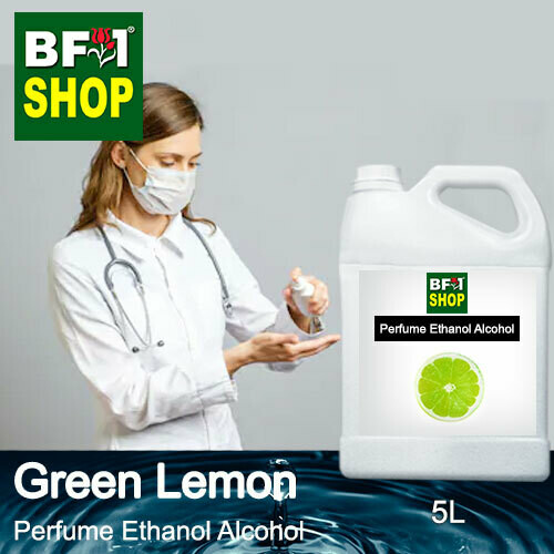 Perfume Alcohol - Ethanol Alcohol 75% with Lemon - Green Lemon - 5L