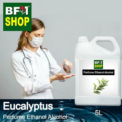 Perfume Alcohol - Ethanol Alcohol 75% with Eucalyptus - 5L