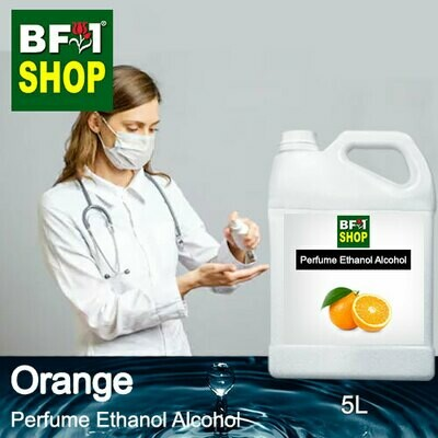 Perfume Alcohol - Ethanol Alcohol 75% with Orange - 5L