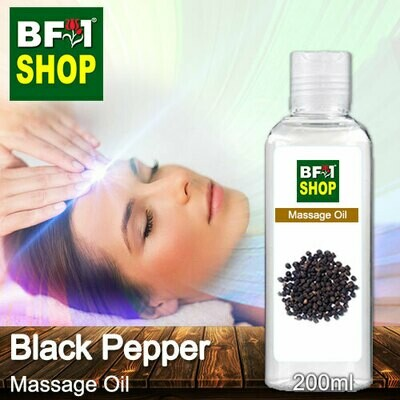 Palm Massage Oil - Black Pepper - 200ml