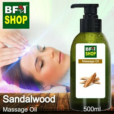 Palm Massage Oil - Sandalwood - 500ml