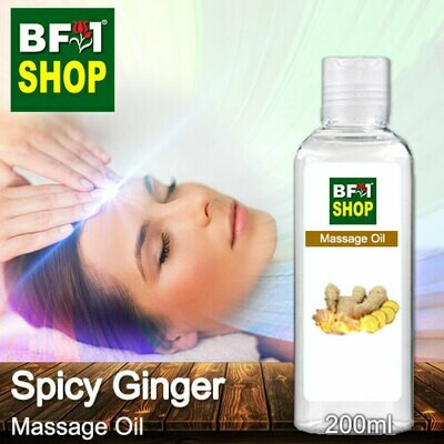 Palm Massage Oil - Spicy Ginger - 200ml