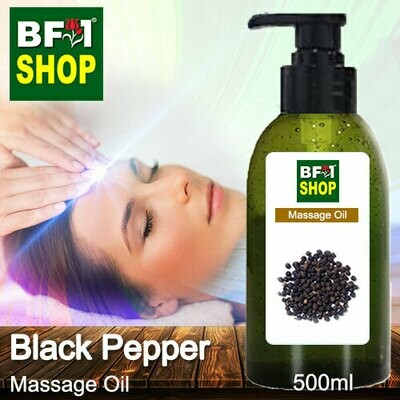 Palm Massage Oil - Black Pepper - 500ml