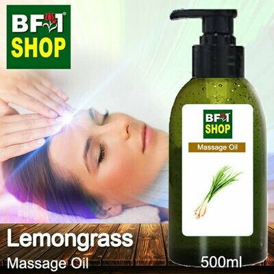 Palm Massage Oil - Lemongrass - 500ml