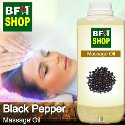 Palm Massage Oil - Black Pepper - 1000ml
