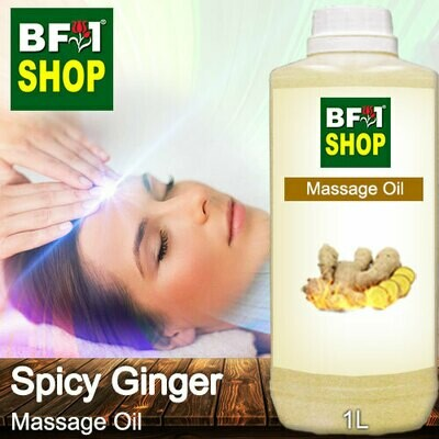 Palm Massage Oil - Ginger - Spicy Ginger - 1000ml