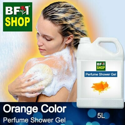 Perfume Shower Gel (PSG) - Orange Color Aura - 5L