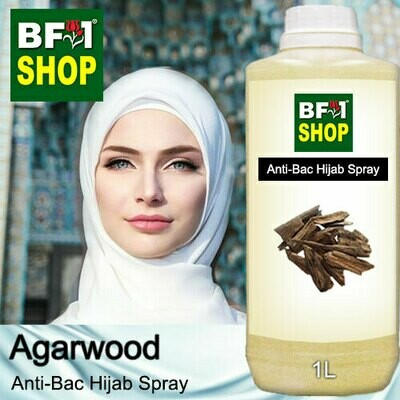 Anti-Bac Hijab Spray (ABHS) - Agarwood - 1L