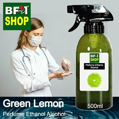 Perfume Alcohol - Ethanol Alcohol 75% with Lemon - Green Lemon - 500ml