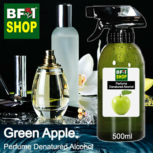 Perfume Alcohol - Denatured Alcohol 75% with Apple - Green Apple - 500ml