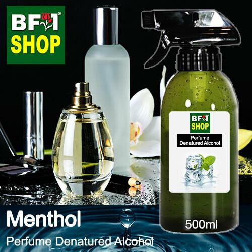 Perfume Alcohol - Denatured Alcohol 75% with Menthol - 500ml