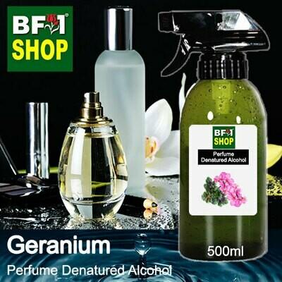 Perfume Alcohol - Denatured Alcohol 75% with Geranium - 500ml