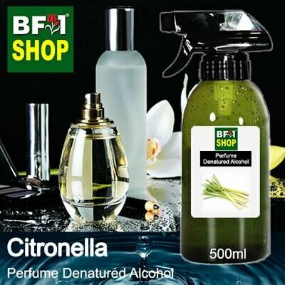 Perfume Alcohol - Denatured Alcohol 75% with Citronella - 500ml