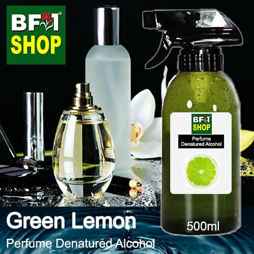 Perfume Alcohol - Denatured Alcohol 75% with Lemon - Green Lemon - 500ml