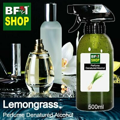 Perfume Alcohol - Denatured Alcohol 75% with Lemongrass - 500ml