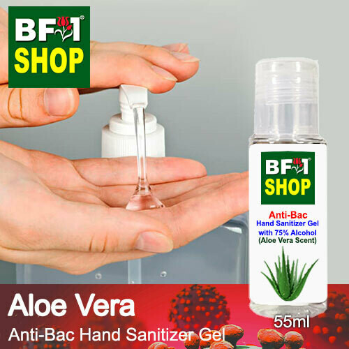 Anti-Bac Hand Sanitizer Gel with 75% Alcohol (ABHSG) - Aloe Vera - 55ml